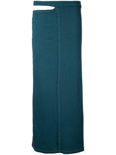 юбка с вырезом на поясе Eckhaus Latta