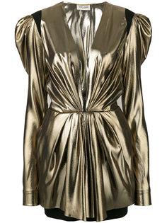 платье с глубоким вырезом Saint Laurent