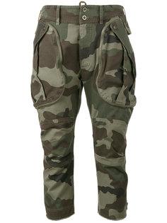 укороченные брюки с камуфляжным принтом Faith Connexion