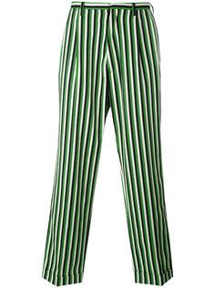 свободные брюки в полоску  Walter Van Beirendonck