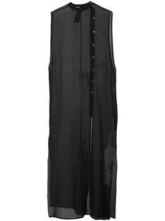 прозрачное платье без рукавов Isabel Benenato