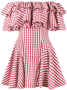 """платье с открытыми плечами в клетку """"гингем"""" House Of Holland"""