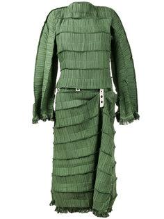 плиссированное платье миди Loewe