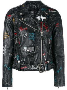 байкерская куртка с узором в стиле граффити Htc Hollywood Trading Company