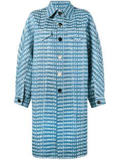 джинсовое пальто с принтом-логотипом Faustine Steinmetz
