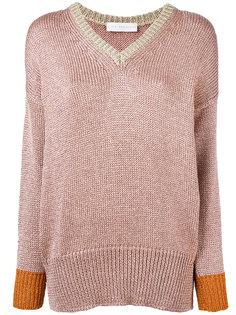свитер с V-образным вырезом из люрекса Giada Benincasa