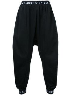 спортивные брюки с заниженным шаговым швом  Strateas Carlucci