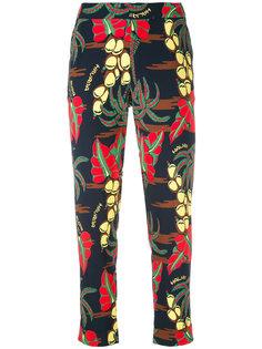 брюки с растительным принтом P.A.R.O.S.H.
