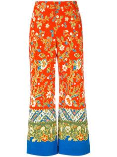 широкие брюки с цветочным принтом Tory Burch