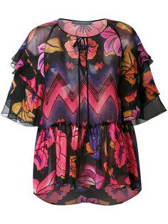 блузка с рисунком Alberta Ferretti