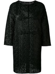 пальто с застежками-завязками Ermanno Scervino