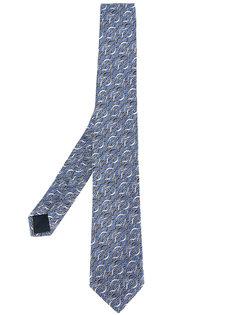 галстук с волнистым узором Lanvin