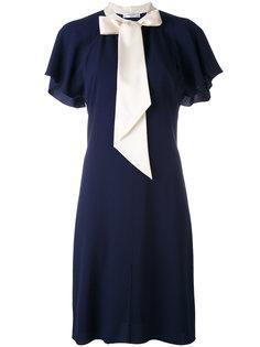платье с контрастными завязками на горловине Lanvin