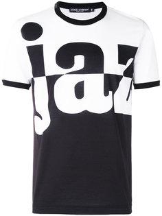 футболка с графическим принтом Dolce & Gabbana
