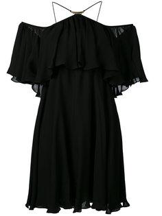 платье с открытыми плечами и рюшами Plein Sud