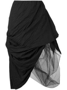 асимметричная многослойная юбка Nostra Santissima