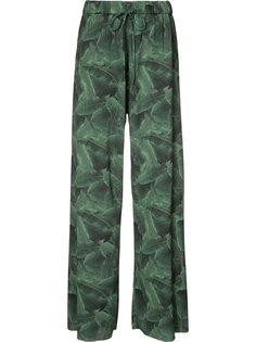 palm print trousers Baja East