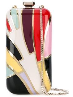 клатч-футляр дизайна колор-блок Elie Saab