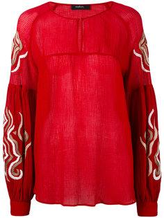 шифоновая блузка с вышивкой Wandering