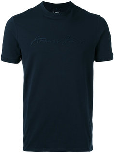 футболка с аппликацией логотипа Armani Jeans