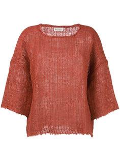 scoop neck knitted top Masscob