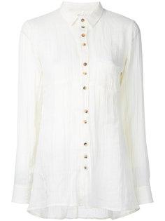 contrast button blouse Aleksandr Manamïs