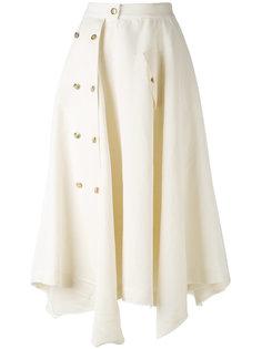асимметричная юбка миди на пуговицах Loewe