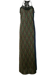 lace trim knitted maxi dress Circus Hotel