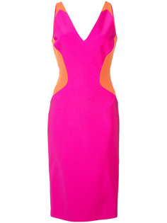 colour block sleeveless mini dress Mugler