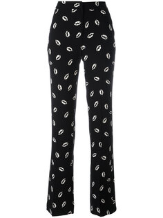lip print straight trousers Essentiel Antwerp