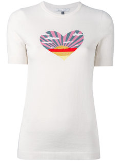 sunset heart knit T-shirt Bella Freud