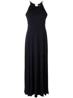 длинное платье с золотистой деталью Michael Michael Kors