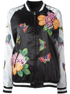 куртка-бомбер с бабочками P.A.R.O.S.H.