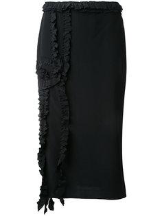 юбка с оборками Rochas