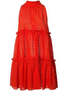расклешенное платье с оборками Lisa Marie Fernandez