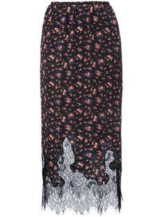 юбка с цветочным узором McQ Alexander McQueen