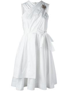 расклешенное платье с бантом сзади Nº21