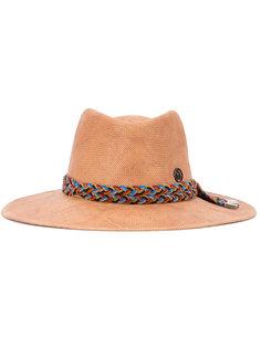 шляпа с плетеной деталью Maison Michel