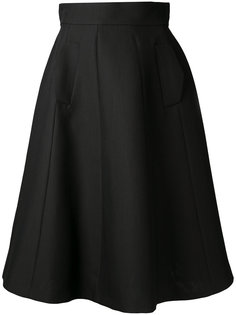 расклешенная юбка миди А-образного силуэта Martin Grant