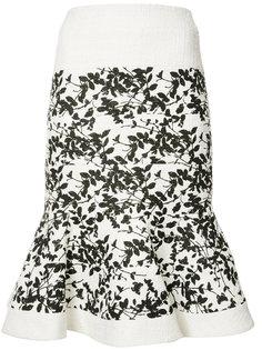 жаккардовая юбка Carolina Herrera