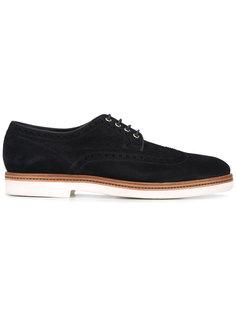 туфли дерби на шнуровке Santoni