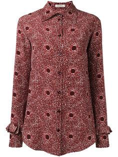 рубашка с абстрактным принтом Nina Ricci