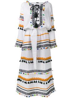 платье макси с кисточками и помпонами Dodo Bar Or