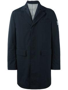 однобортное пальто с заплаткой  Moncler Gamme Bleu