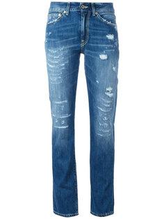 джинсы с рваными деталями Dondup