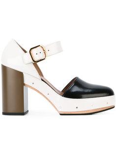 трехцветные туфли Marni
