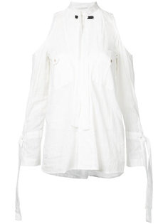 рубашка комбинированного кроя Kitx