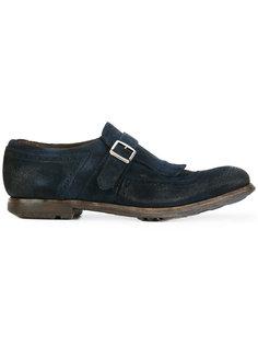 туфли-монки с потертой отделкой Churchs