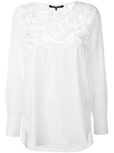 блузка с кружевной панелью Luisa Cerano