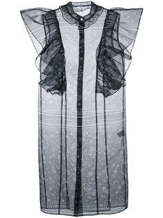 блузка с принтом пейсли и оборками  Fleamadonna
